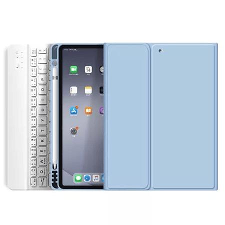 "Funda + Teclado iPad 10.9"" (Air 4) - Ranura Apple Pencil (Color: Celeste)"