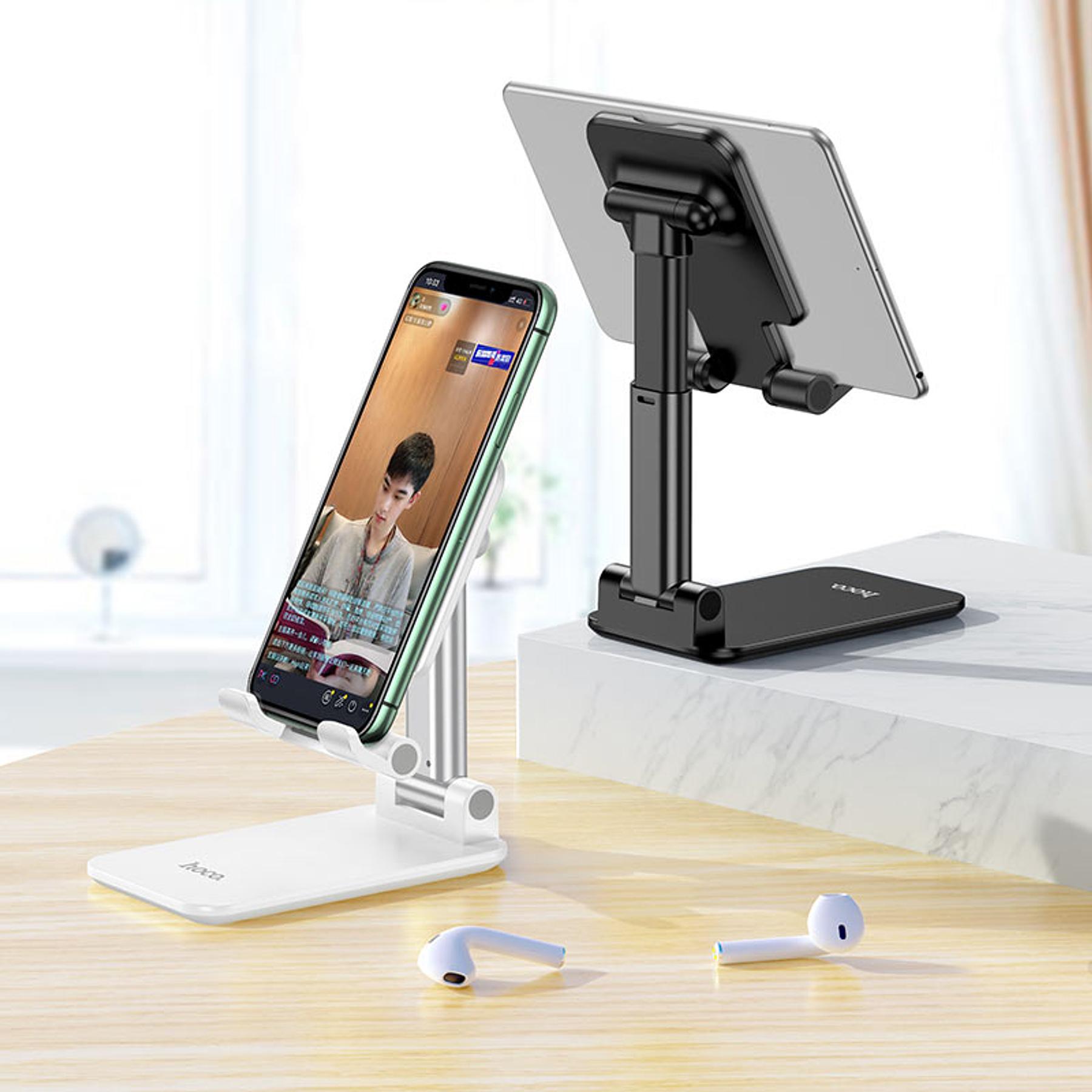 Soporte de escritorio Smartphone / Tablet - Hoco - Plateado