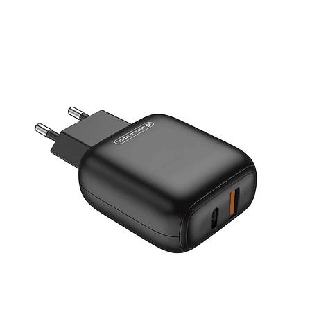 Adaptador de Carga Rápida con 2 estradas USB- C (PD)