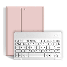 "Funda + Teclado iPad 10,2"" - Ranura Apple Pencil (Color: Rosado)"