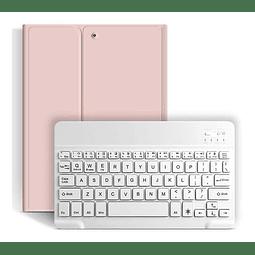 """Funda + Teclado iPad 10,2"""" - Ranura Apple Pencil (Color: Rosado)"""