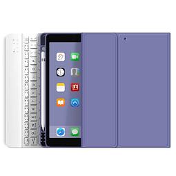 """Funda + Teclado iPad 10,2"""" - Ranura Apple Pencil (Color: Lavanda Oscuro)"""