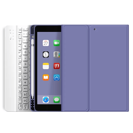 """Funda + Teclado iPad 10.2"""" - Ranura Apple Pencil (Color: Lavanda Oscuro)"""