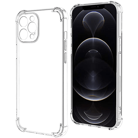 "Carcasa iPhone 12 Pro Max (6.7"") - Transparente Camara Cubierta"