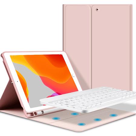 """Funda + Teclado iPad 10,5"""" (Air 3 / Pro) - Ranura Apple Pencil (Color: Rosado)"""