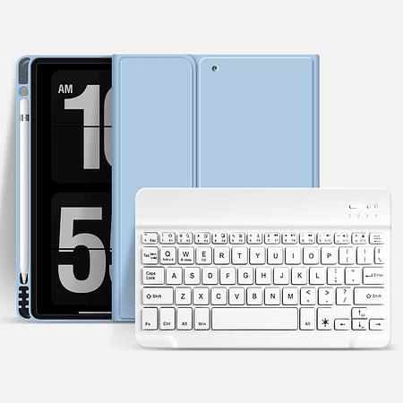 "Funda + Teclado iPad 10.5"" (Air 3 / Pro) - Ranura Apple Pencil (Color: Celeste)"