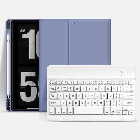 """Funda + Teclado iPad 10,5"""" (Air 3 / Pro) - Ranura Apple Pencil (Color: Lavanda Grisáceo)"""