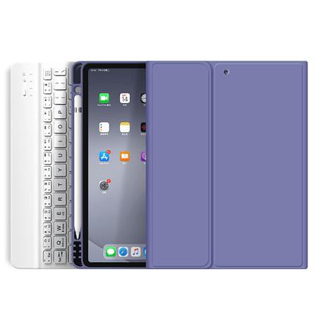 """Funda + Teclado iPad Pro 11"""" 2020 - Ranura Apple Pencil (Color: Lavanada Grisáceo)"""