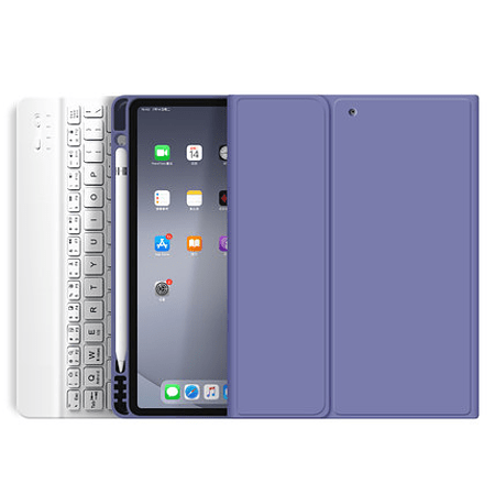 """Funda + Teclado iPad Pro 11"""" 2020/2021 M1 - Ranura Apple Pencil (Color: Lavanada Grisáceo)"""