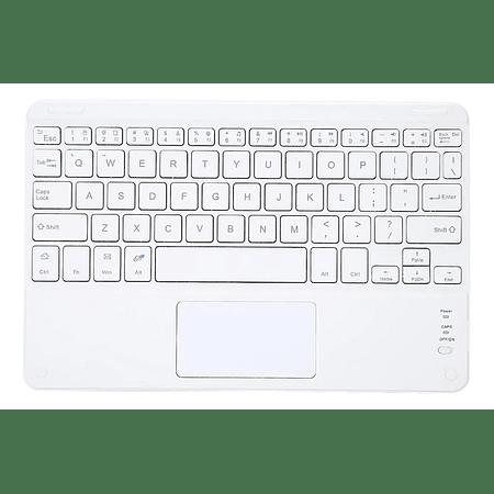 Teclado Bluetooth con Mouse (Color: Blanco)