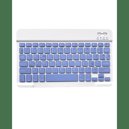 Teclado Bluetooth Morado (Compatible con dispositivos Bluetooth: iPad, Tablet, Pc, Notebook)