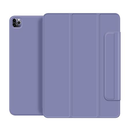 """iPad Pro 12.9"""" 2020/ 2021 M1 - Funda Magnetica con Espacio Apple Pencil (Color: Lavanda Grisáceo)"""