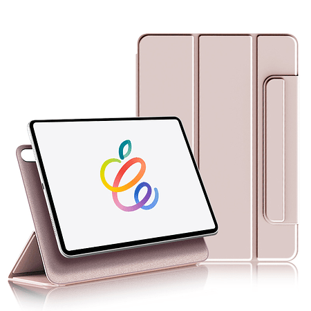"""iPad Air 4 10.9"""" - Funda Magnetica con Espacio Apple Pencil (Color: Rosa)"""