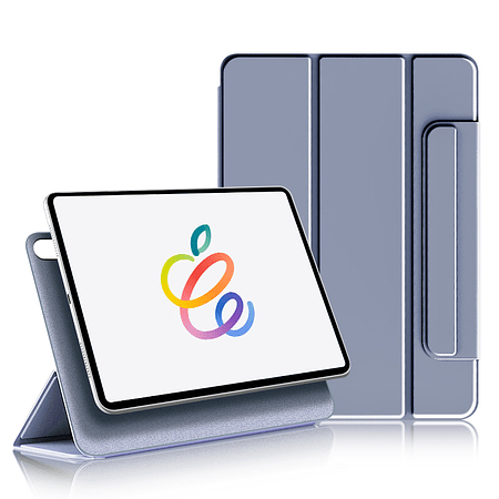 """iPad Air 4 10.9"""" - Funda Magnetica con Espacio Apple Pencil (Color: Lavanda Grisáceo)"""