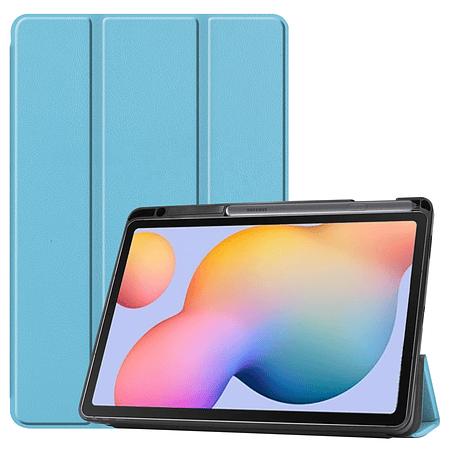 """Funda Samsung Tab S6 Lite 10.4"""" - Ranura S Pen (Color: Celeste)"""