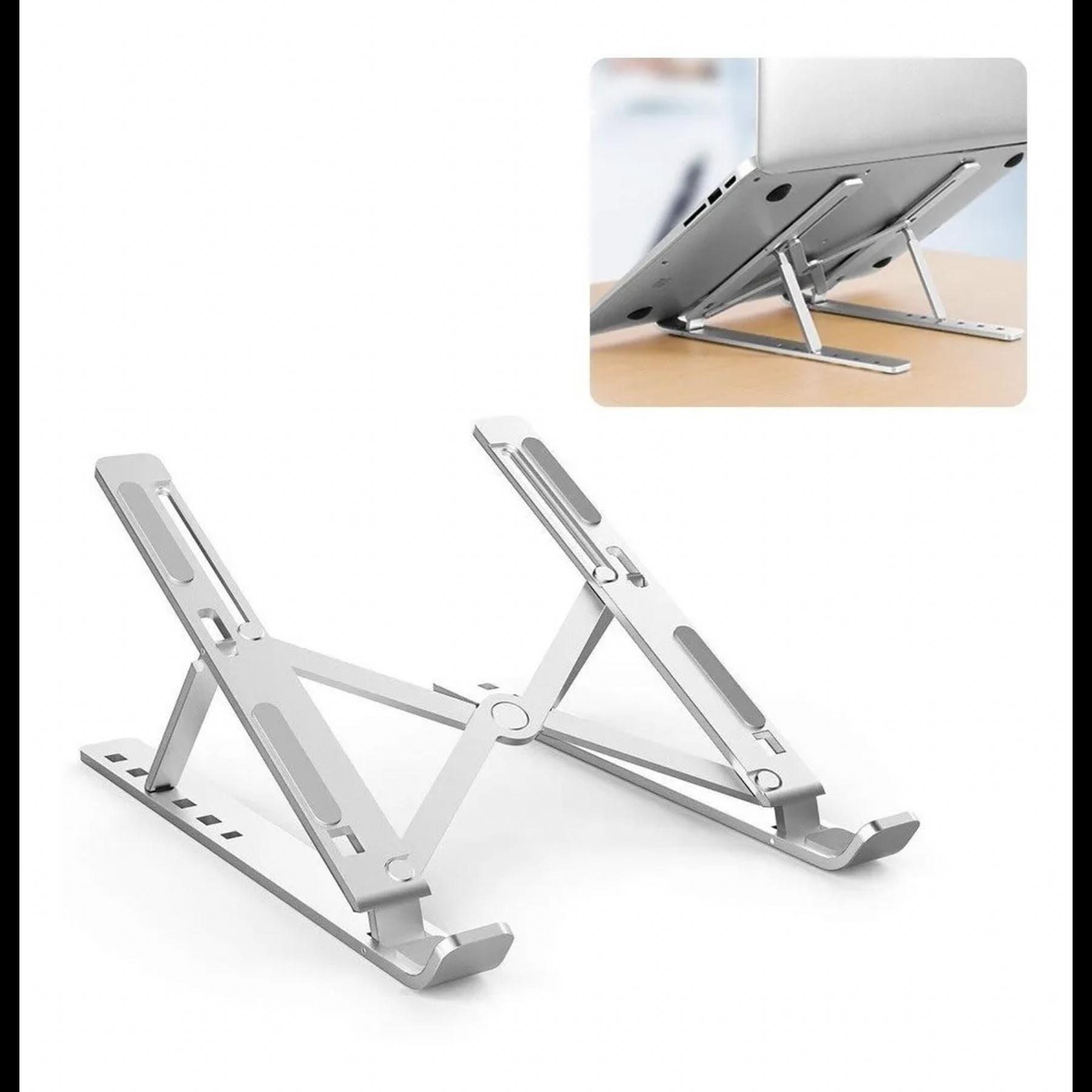 Soporte Elevador para Notebook, iPad, Tablet - Base Plegable