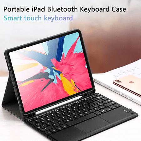 "Funda + Teclado y Touchpad (mouse) iPad Air 4 10.9"" / Pro 11"" 2020/2021 M1 (Negro)"