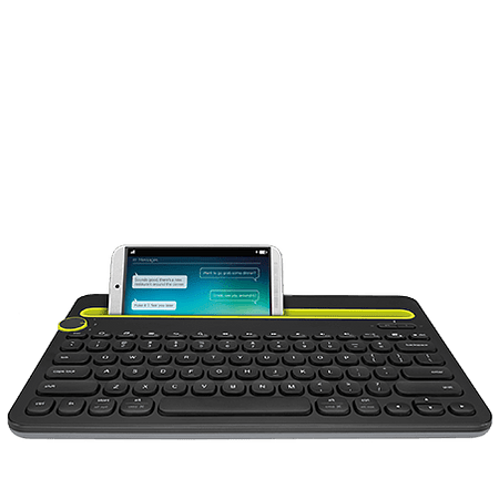 Teclado Bluetooth K480 Multi-Device, Black, Windows, Mac, Chrome OS, Android, iOS