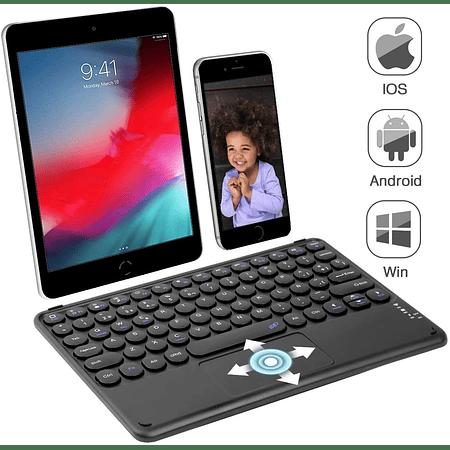Teclado Bluetooth con Mouse - Teclas redondas (Color: Negro)