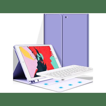 """Funda + Teclado iPad 10.2"""" / 10.5"""" - Ranura Apple Pencil (Color: Lila)"""