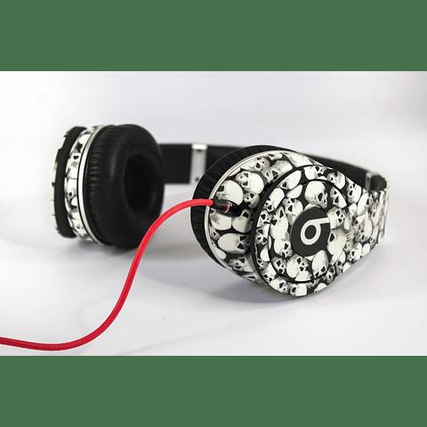 Audífonos Beats By Dre Diamond Studio High Performance White Skull