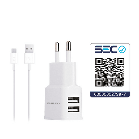 Cargador Micro Usb Certificado (2P)