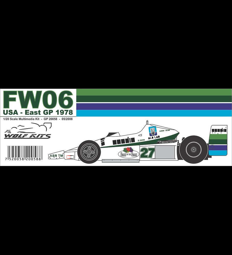 1/20 F1 Resin kit - Williams FW06 - 1978 USA East GP