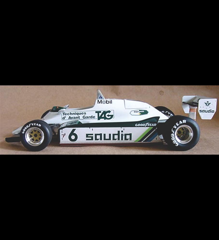 1/20 F1 Resin kit - Williams FW08 - 82´ Swiss GP -
