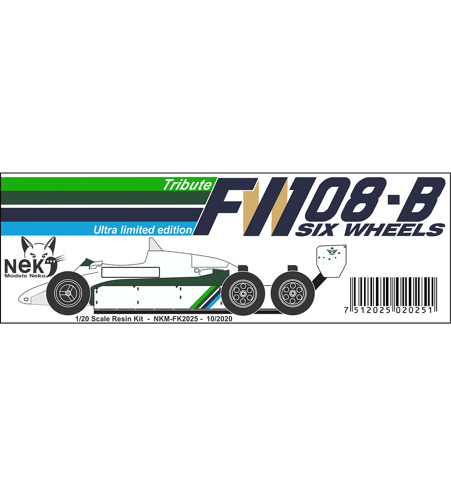 1/20 F1 Resin kit - Williams FW08B - Six wheels -