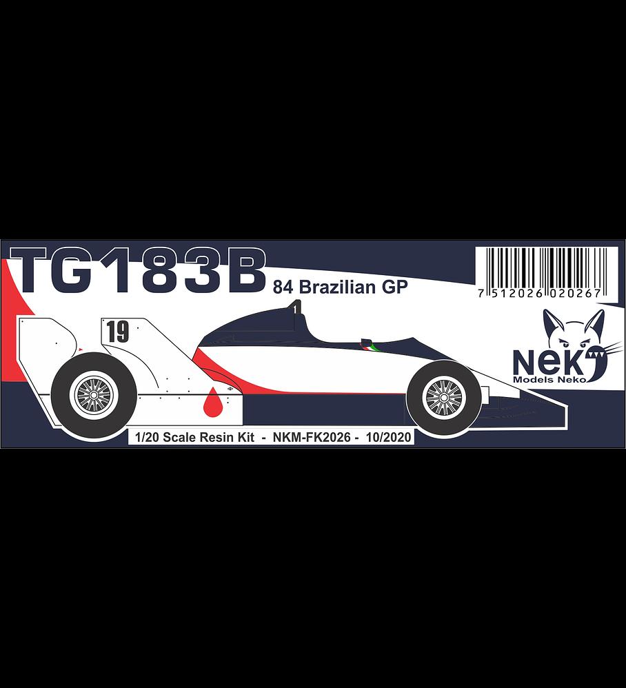 1/20 F1 Resin kit - Toleman TG183B -´84 Brazilian GP