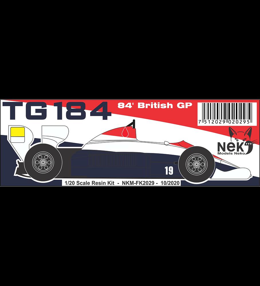 1/20 F1 Resin kit - Toleman TG184 -´84 British GP