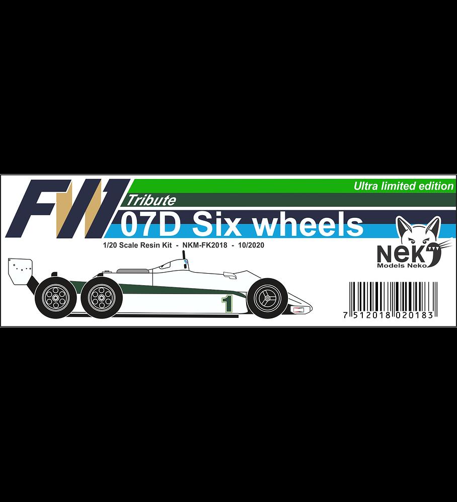 1/20 F1 Resin kit - Williams FW07D - Six wheels -