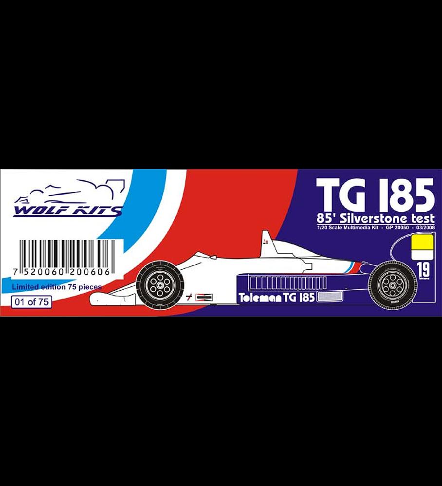 1/20 F1 Resin kit - Toleman TG 185  Silverstone test