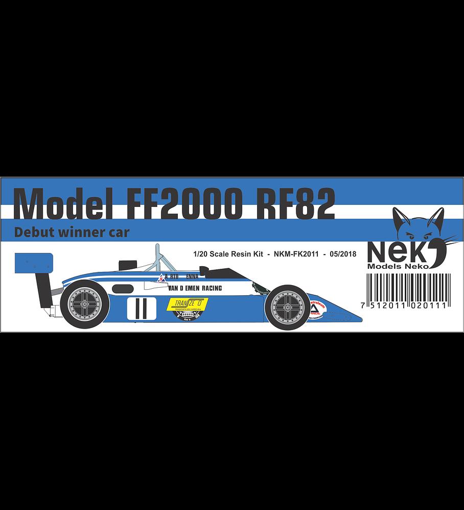 1/20 F1 Resin kit - Van Diemen RF82 Formula Ford 2000 - Debut car winner