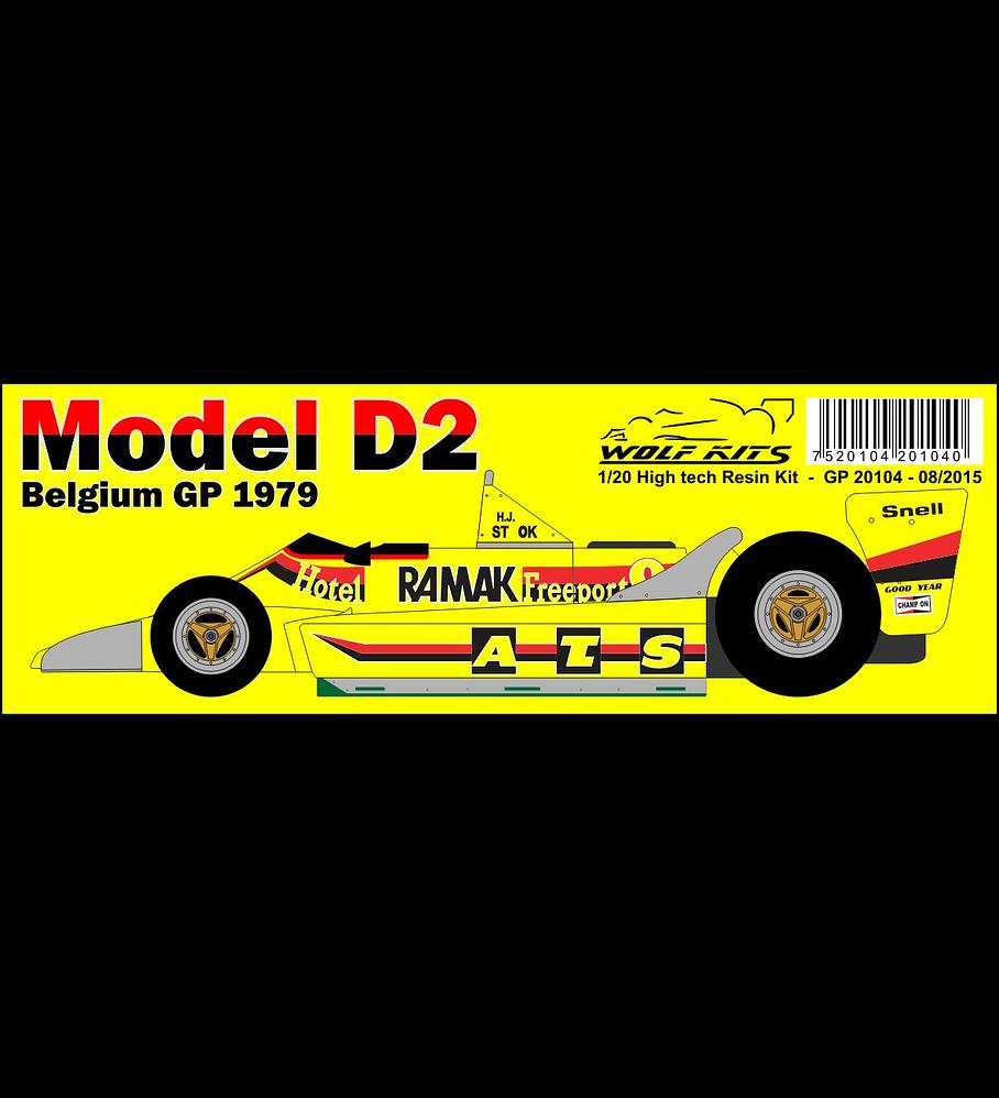 1/20 F1 Resin kit - ATS D2 1979 Belgium GP