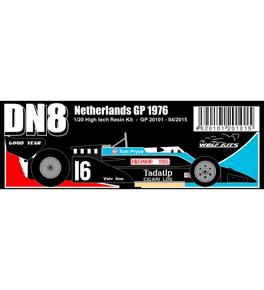 1/20 F1 Resin kit - Shadow DN8 1976 Netherlands GP