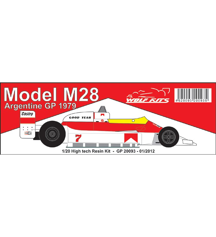 1/20 F1 Resin kit - Mc Laren M28 - 1979 Argentine GP
