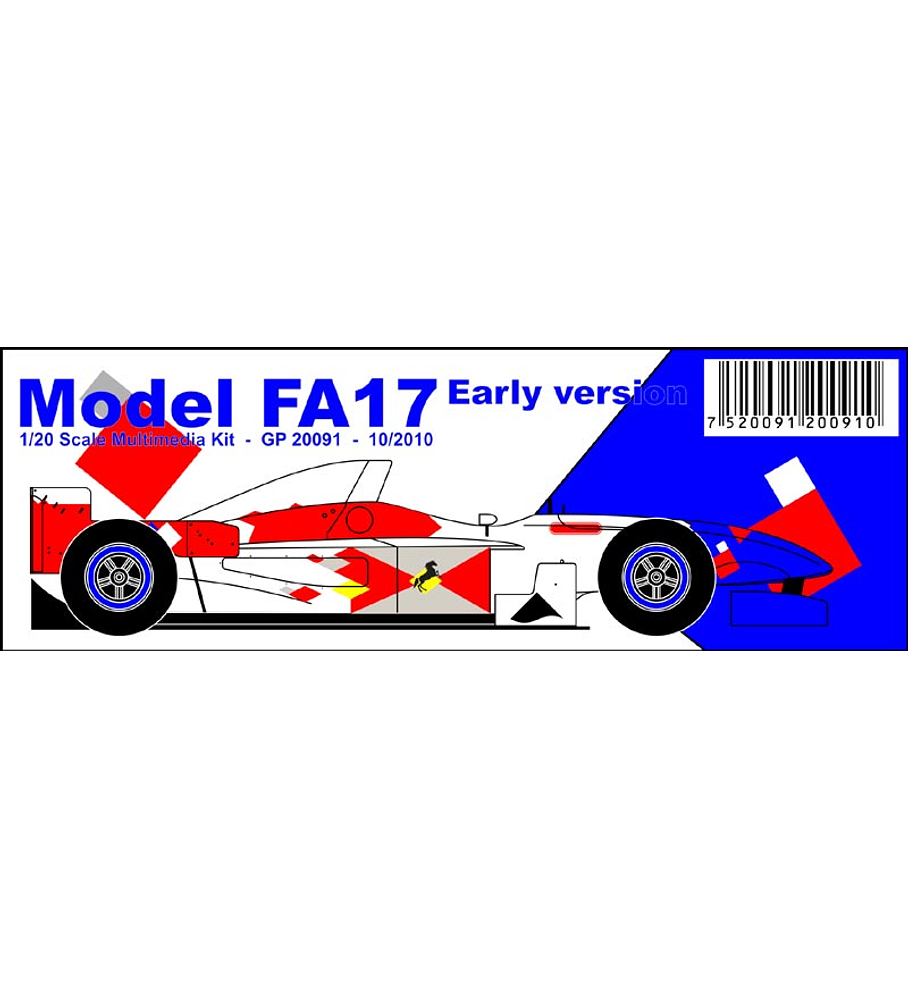 1/20 F1 Resin kit - Footwork Fa17 early version
