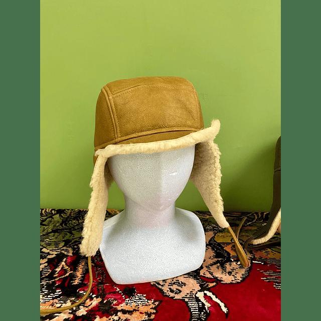 Shearling Aviator Hat - Khaki