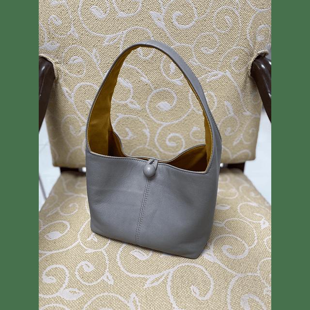 Leather Basket Bag