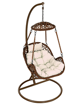 Silla Colgante Simple Rattan (Nipona) - Chocolate