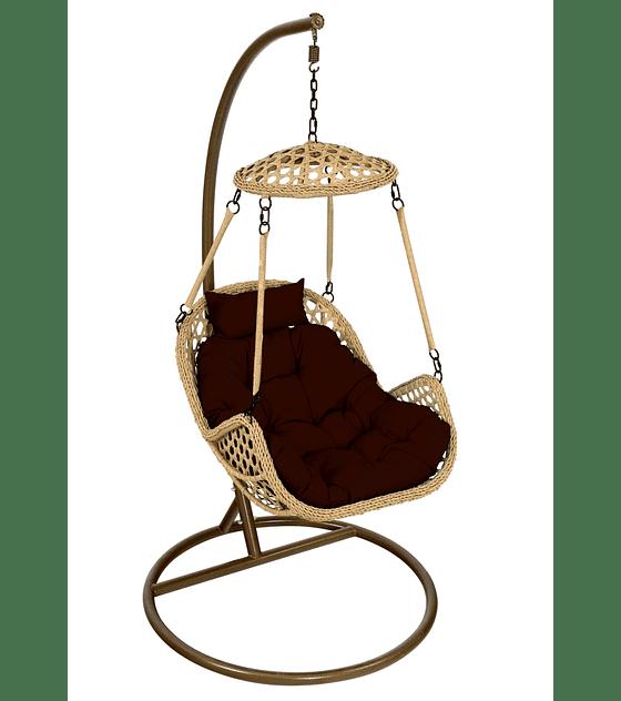 Silla Colgante Simple Rattan (Nipona) - Caramelo