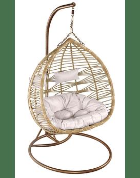 Silla Colgante Doble XL Rattan - Bamboo