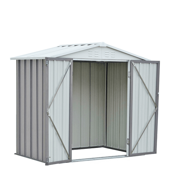 Bodega Jardin 198x126x212 HOMESHED color Gris