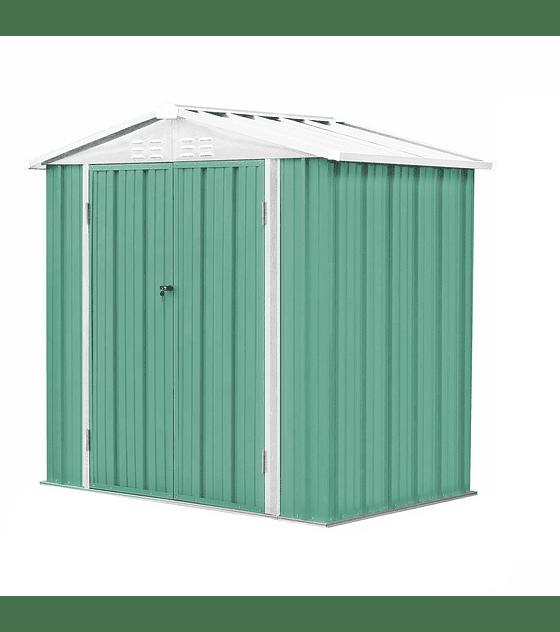Bodega Jardín 198x126x212 Homeshed Color Verde Menta