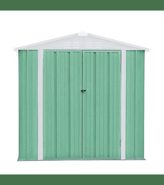 Bodega Jardin 198x126x212 HOMESHED color Verde Menta