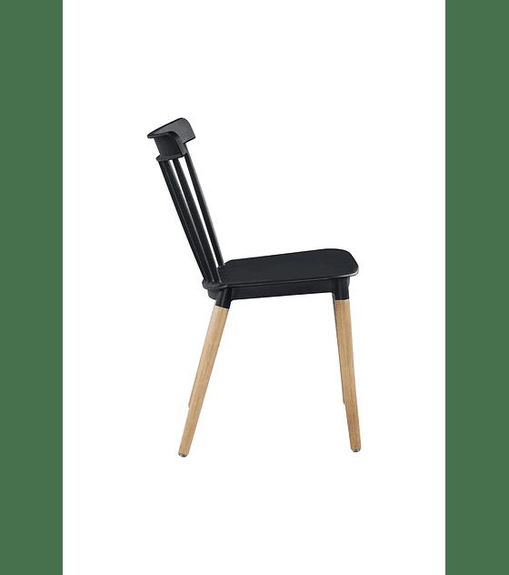 Silla Windsor Diseño Negra