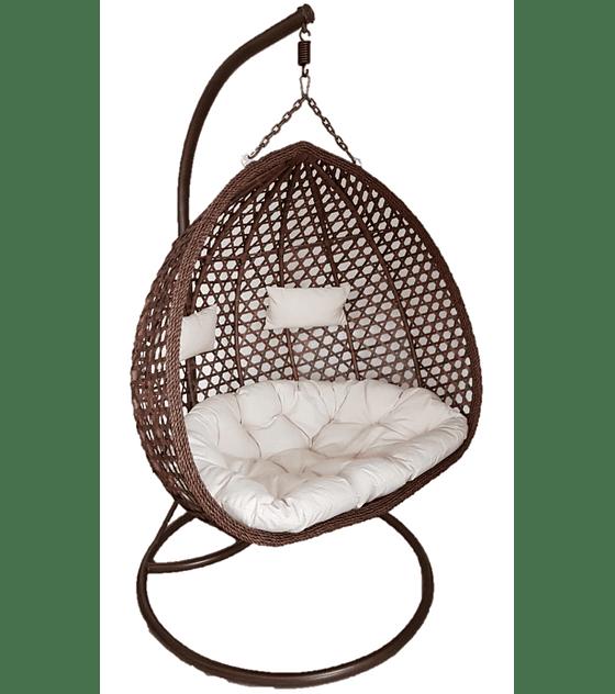 Silla Colgante Doble XL Rattan- Chocolate