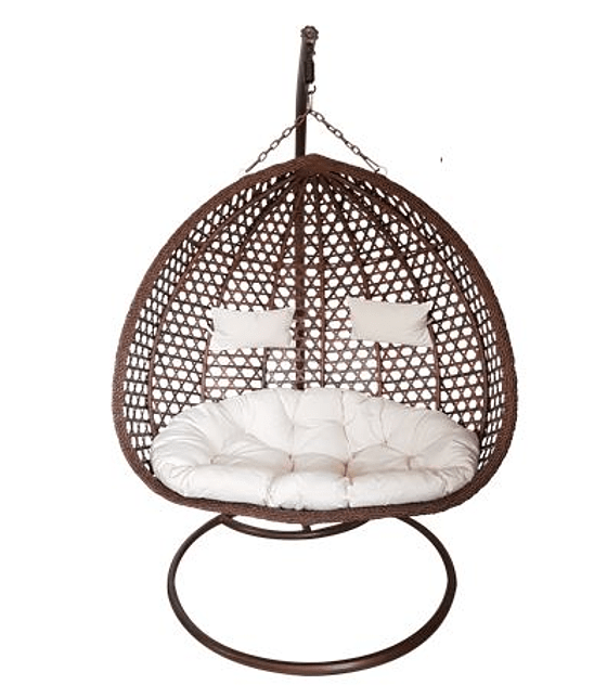 Silla Colgante Doble XL Rattan- Chocolate