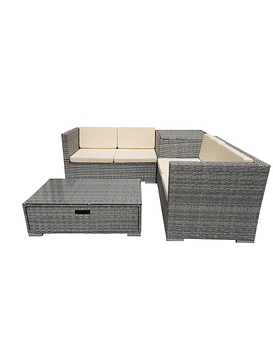 LIVING TERRAZA 4 PERS BOX STORE GRIS